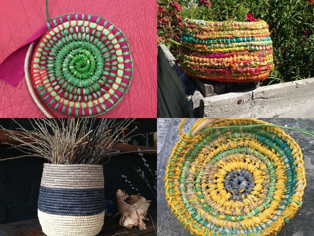 Basket Weaving Supplies Melbourne : Coiled basket weaving with ruth woods stitches and craft